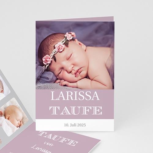 Einladungskarten Taufe für Mädchen Typographie
