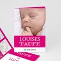 Einladungskarten Taufe Mädchen - Typo Rose 14962 test