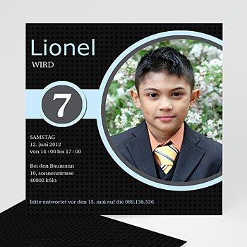 Geburtstagseinladungen Jungen - Geburstageinladung Lionel - 1