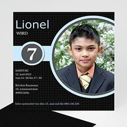 Einlegekarte Kindergeburtstag Lionel