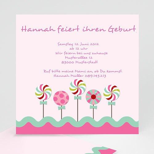 Einladungskarten Geburtstag Mädchen Zucker