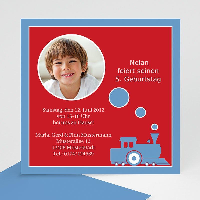 Einladungskarten Geburtstag Jungen Kleiner Zug