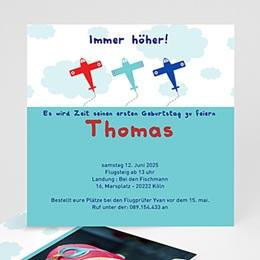 Geburtstagseinladungen Jungen - fliegend kindergeburstag - 1