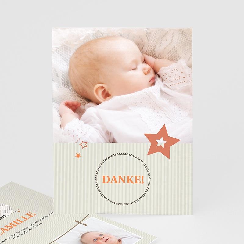 Dankeskarten Taufe Jungen - Sanft 15334 thumb