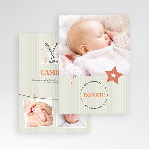 Dankeskarten Taufe Jungen - Sanft 15335 test