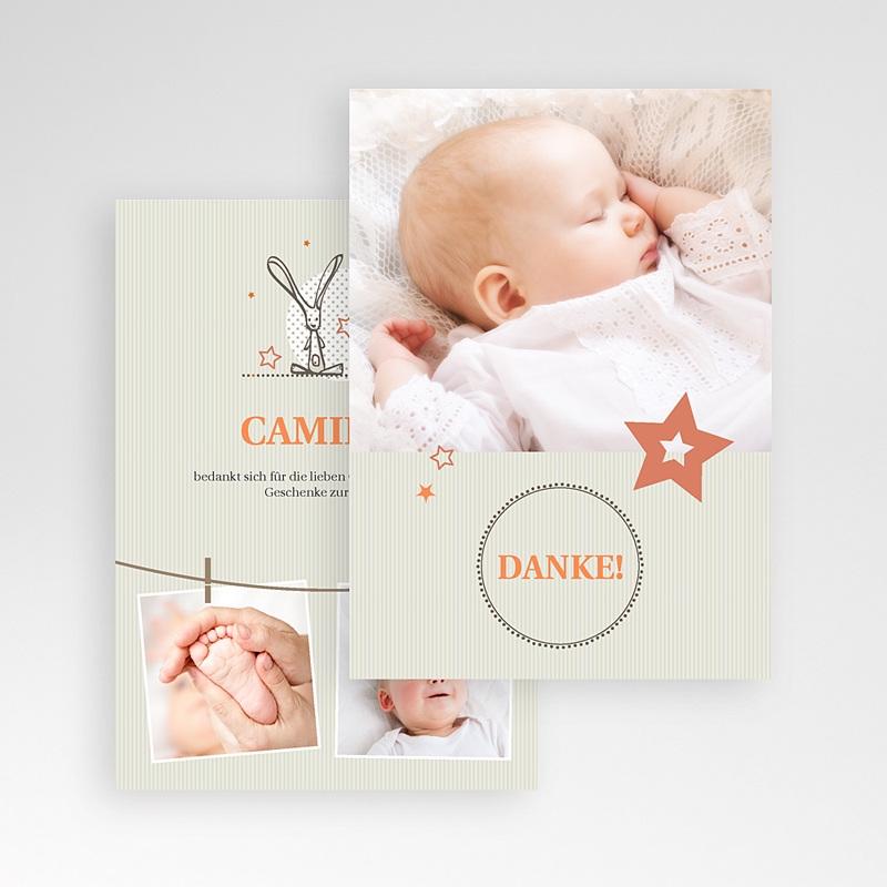 Dankeskarten Taufe Jungen - Sanft 15335 thumb