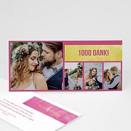 Danksagungskarten Hochzeit  - Liebendes Paar - 1