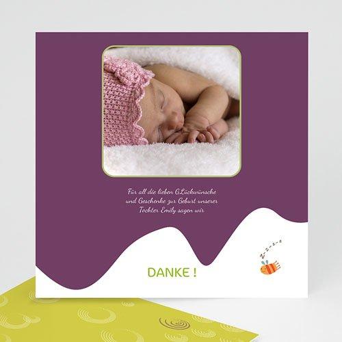 Dankeskarten Geburt Mädchen - Vogelnest 15445