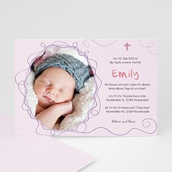 Einladungskarten Taufe Mädchen - Lilah - 1