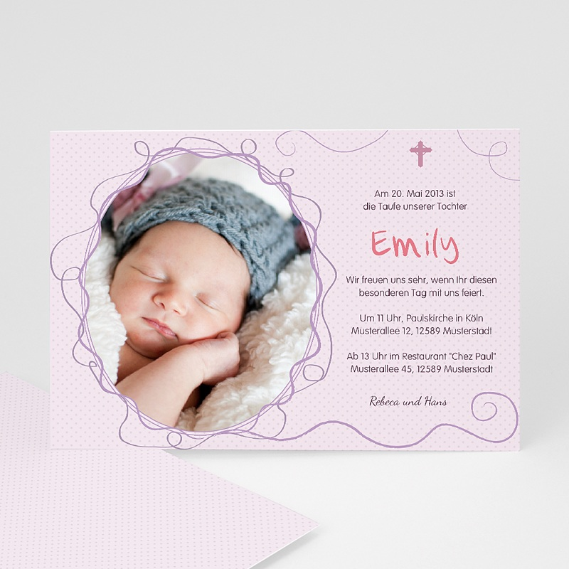 Einladungskarten Taufe Mädchen - Lilah 15451 thumb