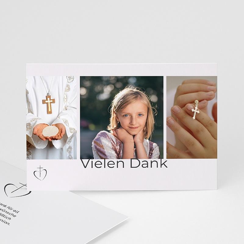 Dankeskarten Kommunion Mädchen Deborah
