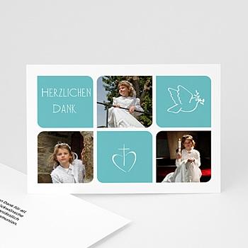Dankeskarten Kommunion Mädchen - Taufkarte - 1