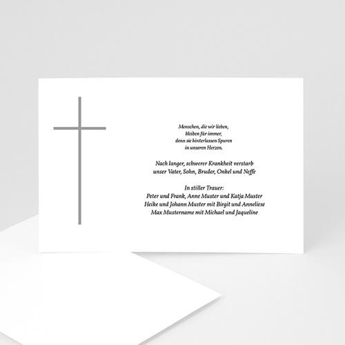 Christlich Dankeskarten Trauer Graues Kreuz