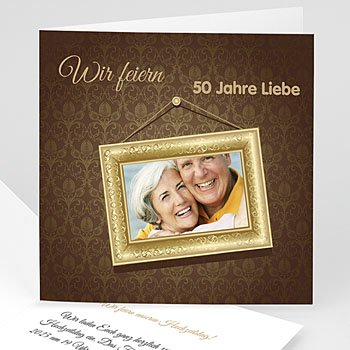 Silberhochzeit und goldene Hochzeit  Rahmen