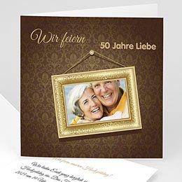 Einlegekarte Anniversaire mariage Rahmen