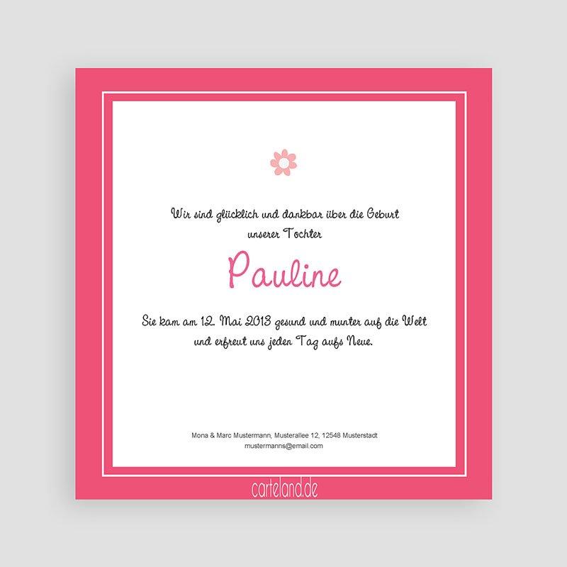 Geburtskarten für Mädchen Pauline pas cher
