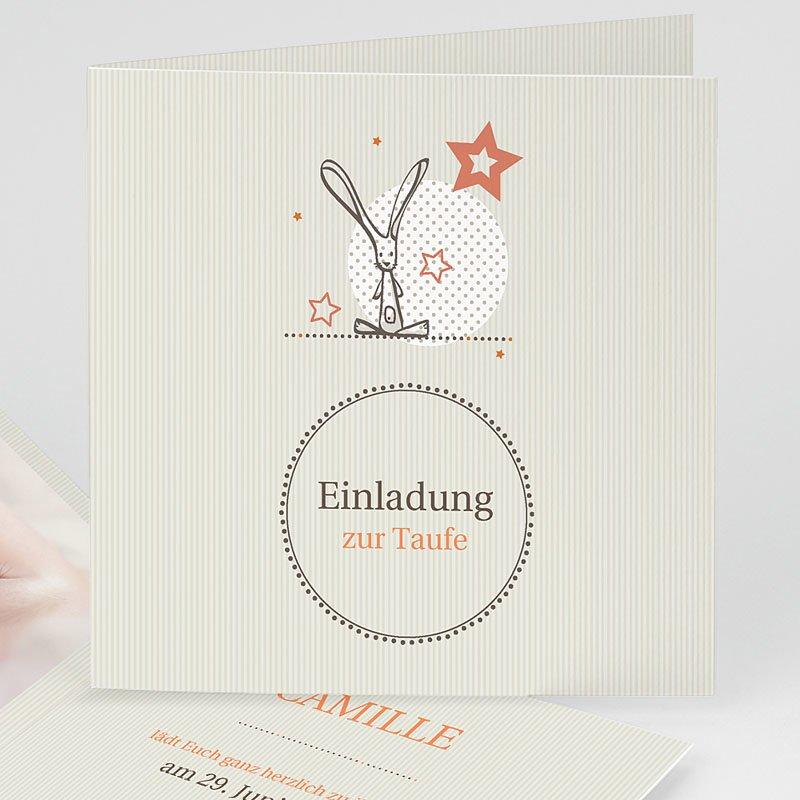 Einladungskarten Taufe Mädchen - Hauchzart 15542 thumb