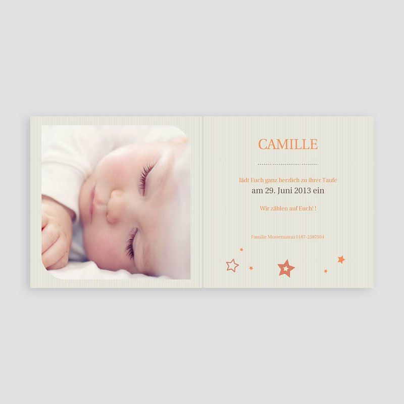 Einladungskarten Taufe Mädchen - Hauchzart 15543 thumb