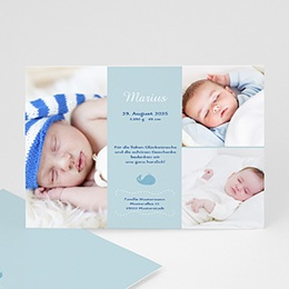 Geburtskarten für Jungen Wal
