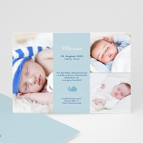 Babykarten für Jungen - Wal 15573