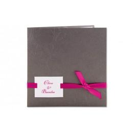 Einladung grau Blumenreliëf Arabesken JY-16 - 1