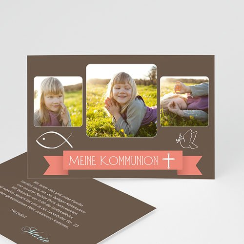 Einladungskarten Kommunion Jungen - Schlichtes Design 1560 thumb
