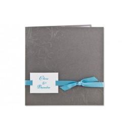 Einladung grau Blumenreliëf Arabesken JY-21 - 1