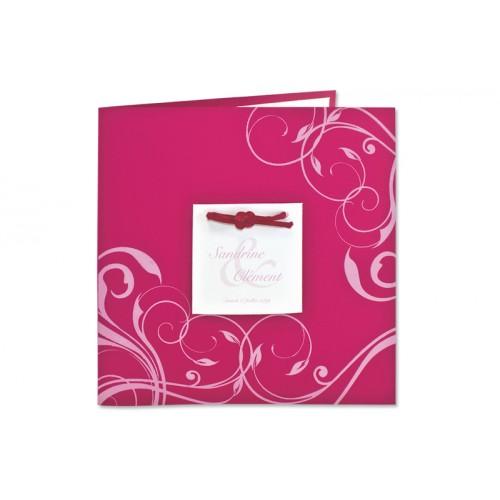 Archivieren - Einladung fuchsia mit rosa Arabesken JZ-512 15638
