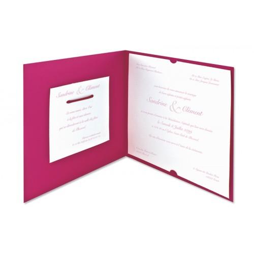 Archivieren - Einladung fuchsia mit rosa Arabesken JZ-512 15639 preview