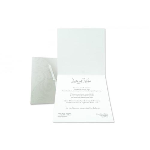 Archivieren - Einladung grau mit Blumen Arabesken JV-158 15669 preview