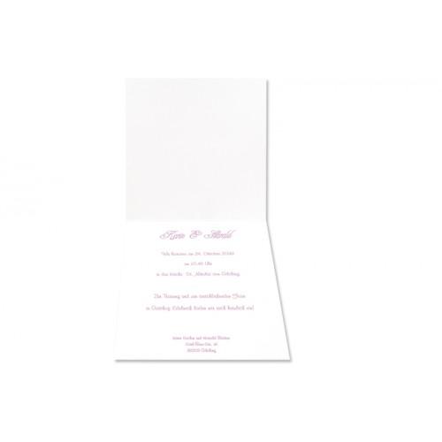 Archivieren - Einladung schwarz/rosa mit silberprägung JX 15675 preview