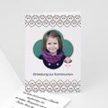 Einladungskarten Kommunion fur Mädchen Verspieltes Design