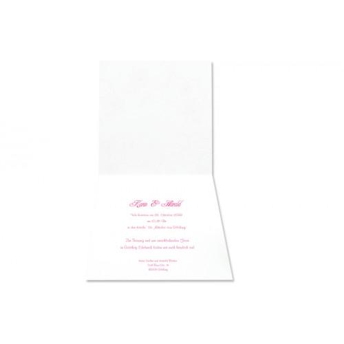 Archivieren - Einladung schwarz/rosa mit ilberprägung 15681 preview