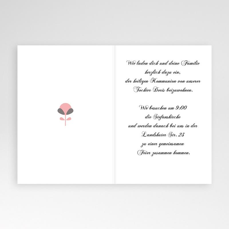 Einladungskarten Kommunion Mädchen Verspieltes Design pas cher