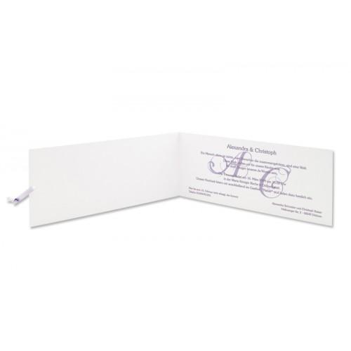 Archivieren - Einladung violett mit Blumen Arabesken JS-1 15693 preview