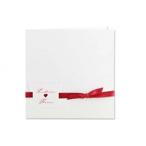 Archivieren - Einladung Kroko-Stil weiß JS-224 15698