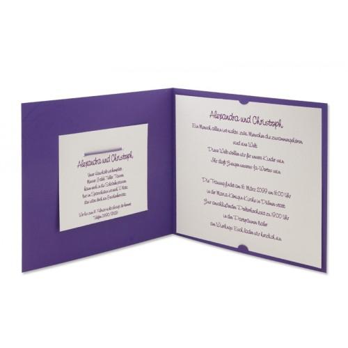 Archivieren - Einladung violett und grau metallic JZ-684 15716 preview