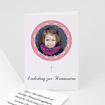 Einladungskarten Kommunion Mädchen Edel und verspielt