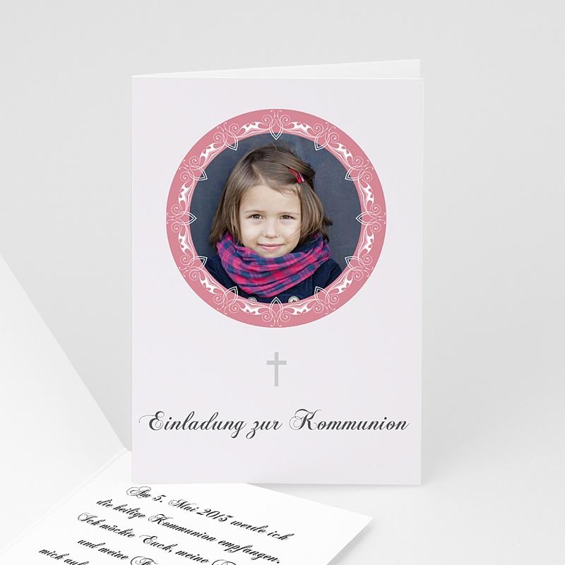 Einladungskarten Kommunion Mädchen - Edel und verspielt 1572 thumb