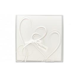 Einsteckhülle transparent mit 2 Herzen JX-1