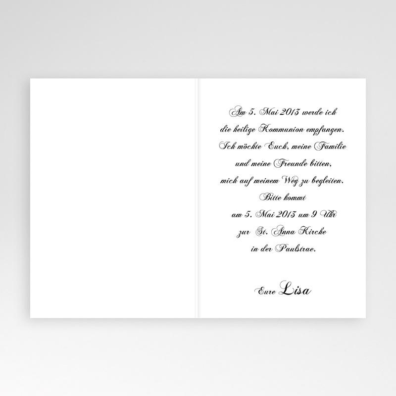Einladungskarten Kommunion Mädchen - Edel und verspielt 1573 thumb