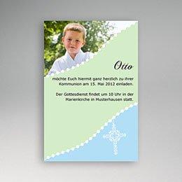 Einladungskarten Kommunion Jungen Blau
