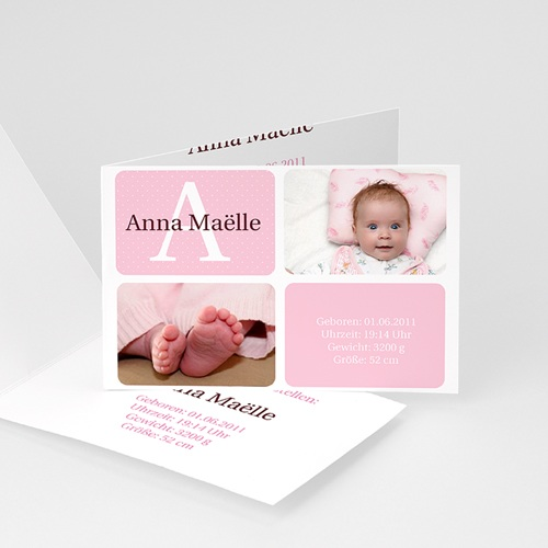 Geburtskarten für Mädchen - Marta 15828