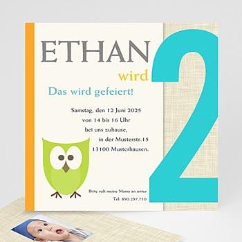 Geburtstagseinladungen Jungen - Kindergeburstageinladung eule - 1