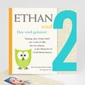 Kindergeburstageinladung eule - 1