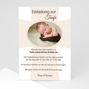 Einladungskarten Taufe Mädchen - Kreuz - 1