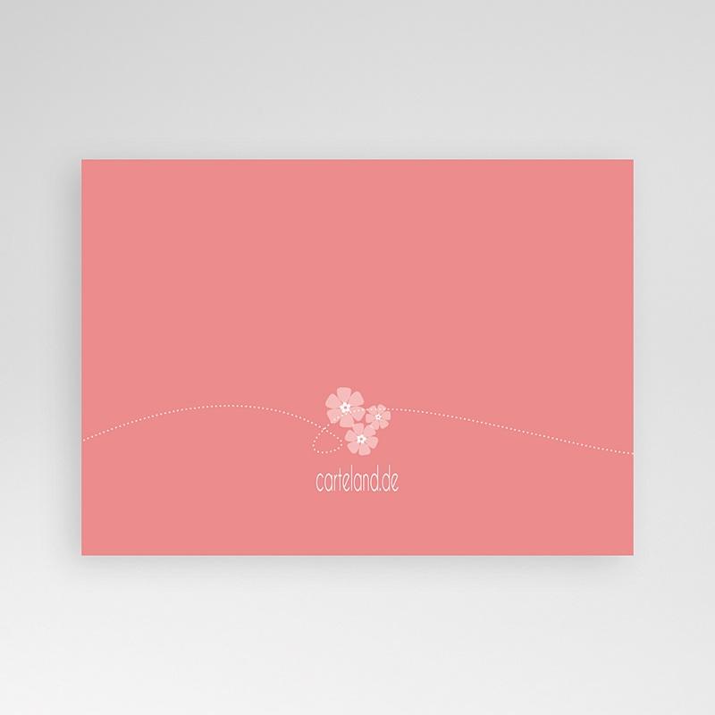 Einladungskarten Taufe für Mädchen Floral Charme pas cher