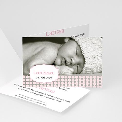 Geburtskarten für Mädchen - Sanft 16070
