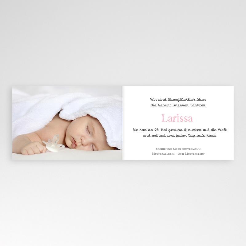 Geburtskarten für Mädchen Sanft pas cher