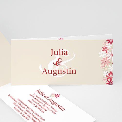 Einladungskarten Hochzeit Blumen Carteland De